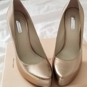 BCBGeneration Champagne Leather Heels